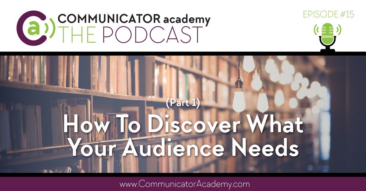 Episode 15: How To Discover What Your Audience Needs Part 1